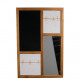 Wooden board with mirror and pin board, L63cm, B2,